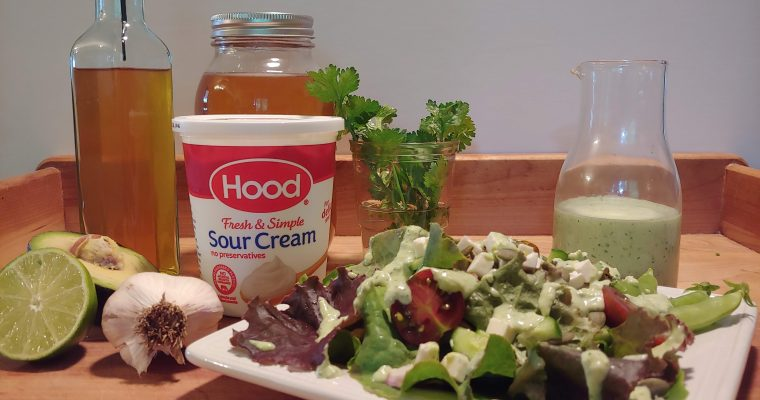 Green Goddess Dressing with Sour Cream & Honey